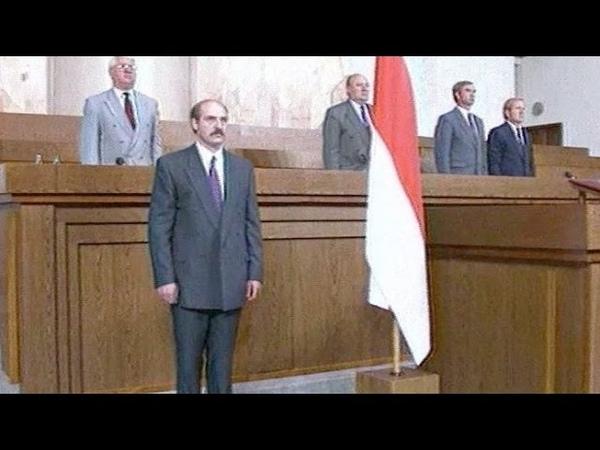 Лукашэнка прысягае на вернасць беларусі пад БЧБ Первая присяга Лукашенко