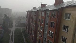 Дождь шел стеной около 10 минут 18 августа 2020 в Бердске