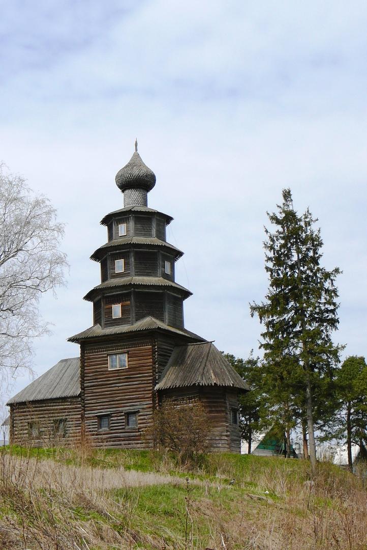 Торжок, деревянная церковь Вознесения (Тихвинской иконы Божьей Матери)