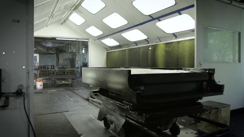 Inside the Steinway factory FinishingCoating