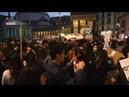 A Napoli striscioni e scritte alla manifestazione contro il leader della Lega Matteo Salvini