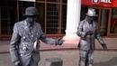 Живые статуи, Кемерово. Уличные артисты. Клоуны Свой и Нужный
