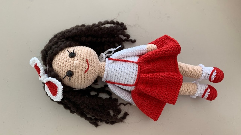 Amigurumi şirin bebek(kırmızı başlıklı kız) 4. Bölüm kafa ve saç yapımı