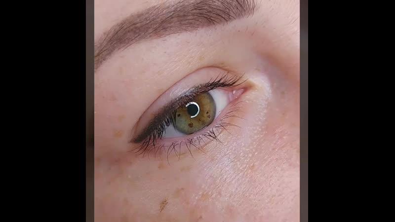 Заживший Перманентный макияж стрелочки с растушевкой