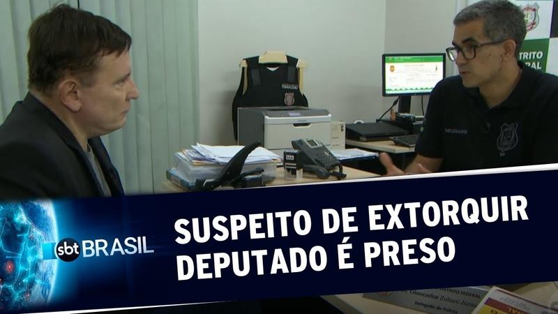 Exclusivo: Cabrini revela esquema e homem é preso por extorquir deputado | SBT Brasil (06/09/19)