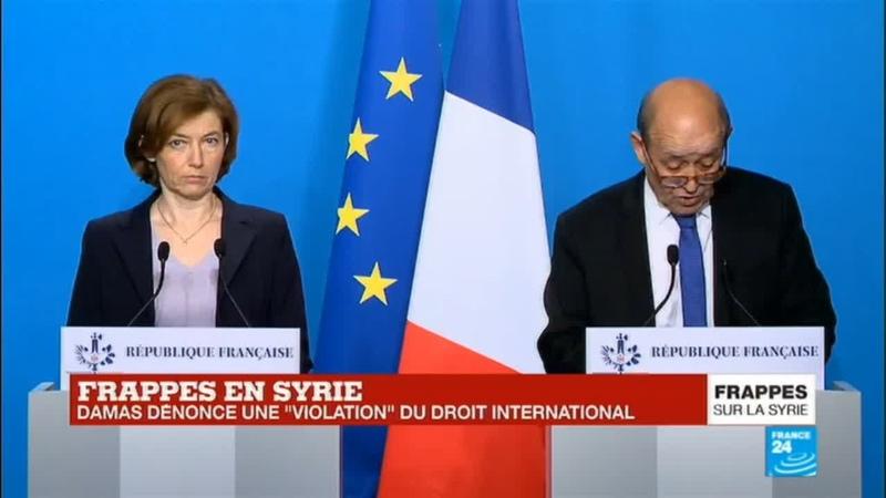 REPLAY - Intervention de Florence Parly et Jean-Yves Le Drian après les frappes en Syrie - 14 avril 2018