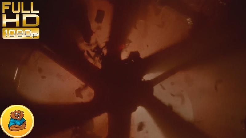 Заключённый получает плевок кислотой в лицо и падает на вентилятор.Фильм Чужой 3 1992