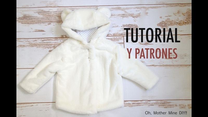 Patrones abrigo de oso para niños (gratis hasta talla 7 años)