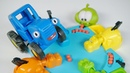 Поиграем в Синий трактор - Игра про зверей Голодные бегемоты - Учим цвета
