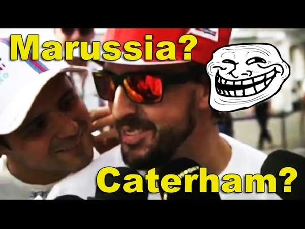 Felipe crashes Alonso's interview Going to Marussia Caterham Japan 2014