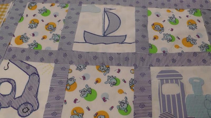 Делаем блок с аппликацией для детского одеяла