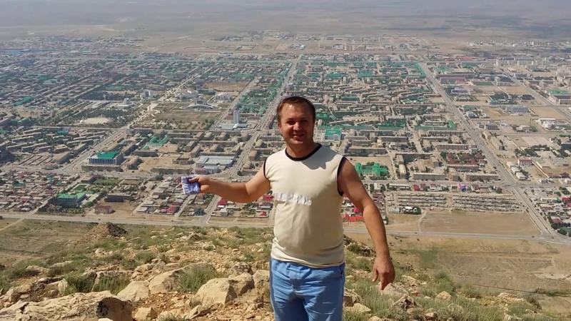 Туркменистан Небит Даг Балканабад Балканабат Balkanabat.Видео записано с высоты гор Балхан.