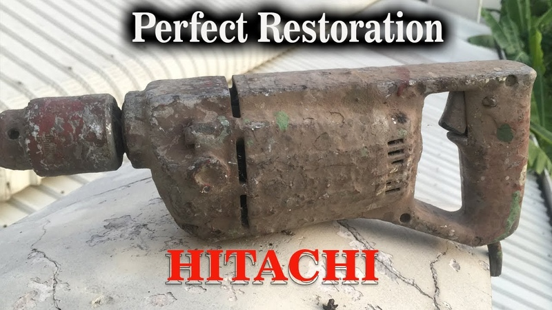 Restoration Very Dirty Electric Paint Mixer to Be Drill Hitachi Drill Rescue Japan