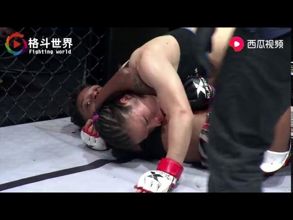 24号UFC北京站张伟丽是不是也像这样KO对手!打出中国人的气势!