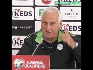 Kosovo manager bernard challandes has lost his head before facing england 🤣