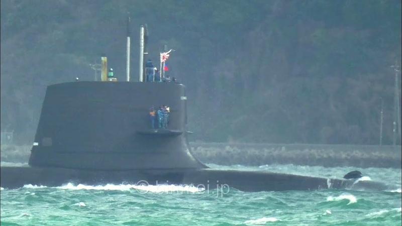 海上自衛隊 そうりゅう型潜水艦 関門海峡東航 JMSDF Soryu-class Submarine - 2019