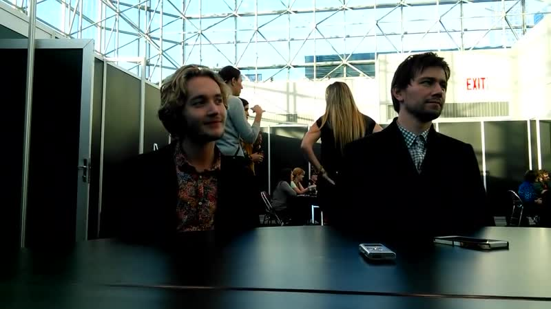 Toby Regbo and Torrance Coombs at New York Comic Con 2013