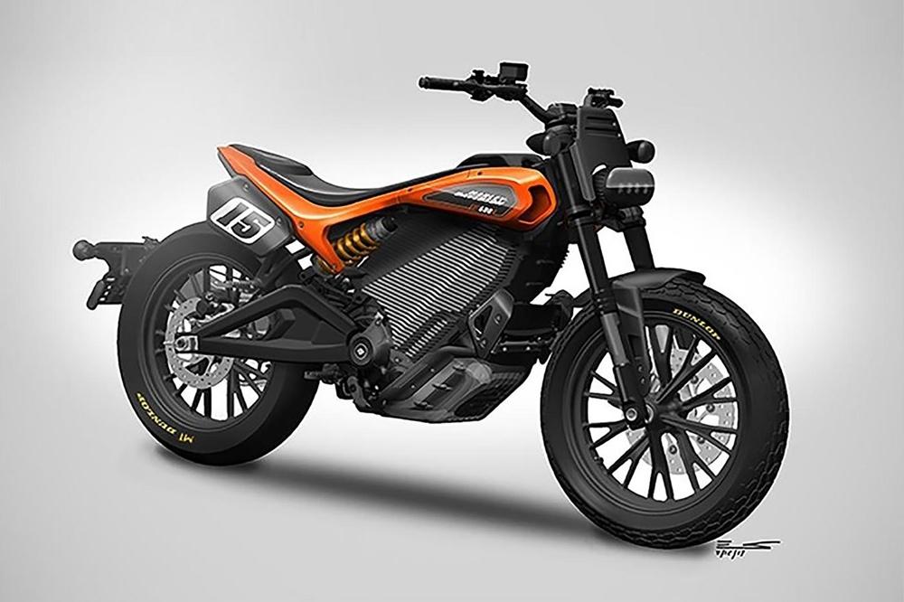 Обновленный дизайн электрического флэт-трекера Harley-Davidson