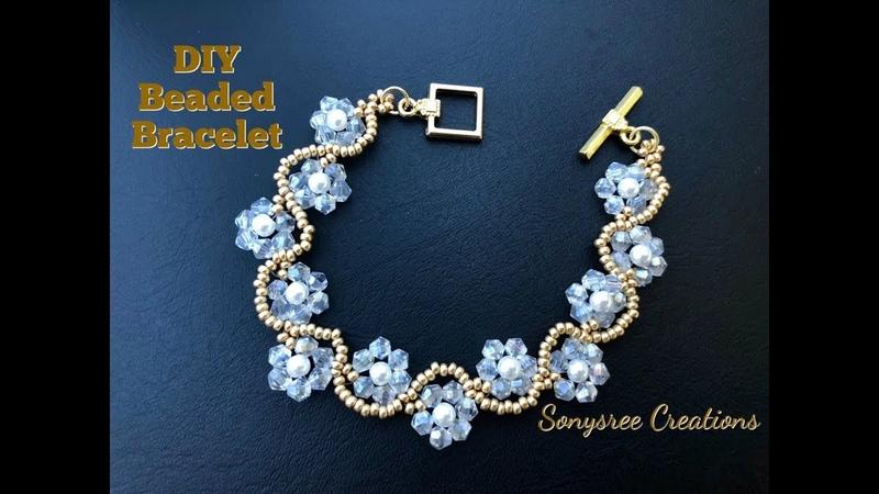 DIY Beaded Wedding Jewelry How to make beaded Bracelet