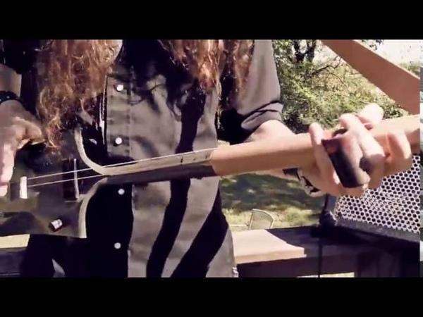 Крутой блюз на гитаре из лопаты