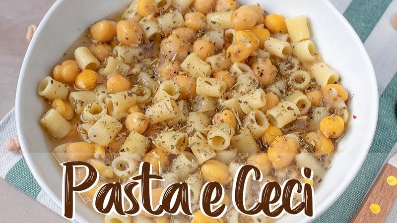 PASTA E CECI CREMOSA Ricetta Facile - Creamy Pasta with Chickpeas Easy Recipe
