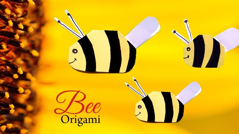 Easy Origami Fly Bee Step by Step Tutorial | Mosca Abeja Origami | Fun Easy Origami