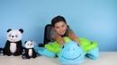 Keelan Try SOCO Animal Plush Animals -Pomo the Turtle and Patient Panda