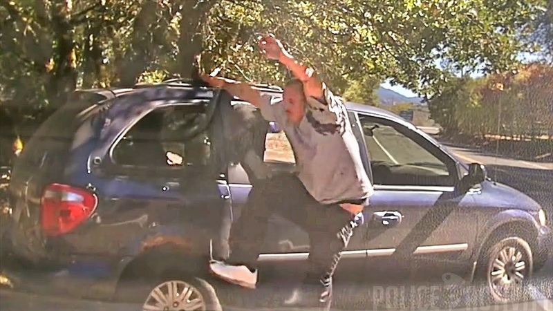 Dashcam Shows Police Shootout With Drunk Suspect in Redwood Valley California