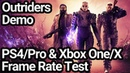 Outriders PS4/Pro and Xbox One X/S Frame Rate Test Demo