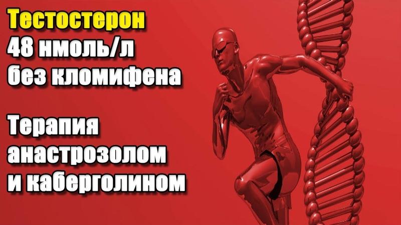 ТЕСТОСТЕРОН 48 НМОЛЬ Л БЕЗ КЛОМИФЕНА ТЕРАПИЯ АНАСТРОЗОЛОМ И КАБЕРГОЛИНОМ