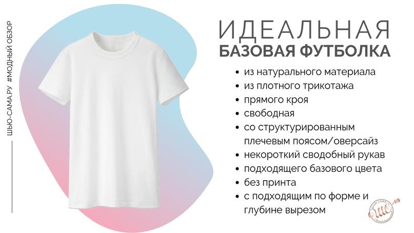 какой должна быть базовая футболка