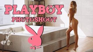PLAYBOY Photoshoot Backstage #SEMANINA - Russian Hot Blonde Model Anna Kostenko 18+ Naked