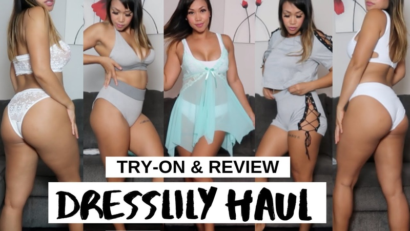 DRESSLILY TRY ON HAUL REVIEW BIKINIS LINGERIES UNDERGARMENTS SEXY DRESSES MORE