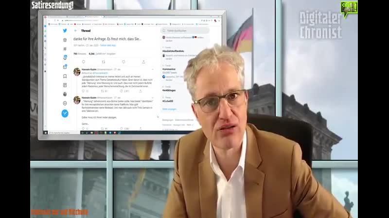 DigitalerChronist BITCHUTE EXKLUSIV¡ Journalistendarsteller Hasnain Kazim und seine Vorstellungen von Meinungsfreiheit