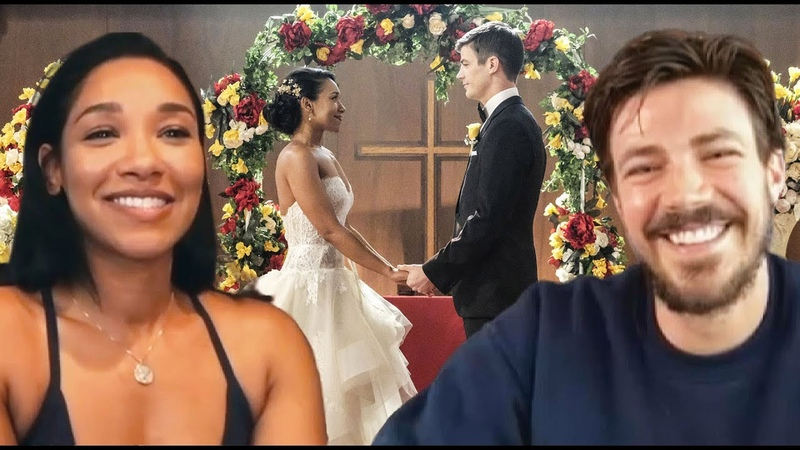 The Flash Watch Grant Gustin ASK Candice Patton if WestAllen Should Renew Their Vows in Season 7