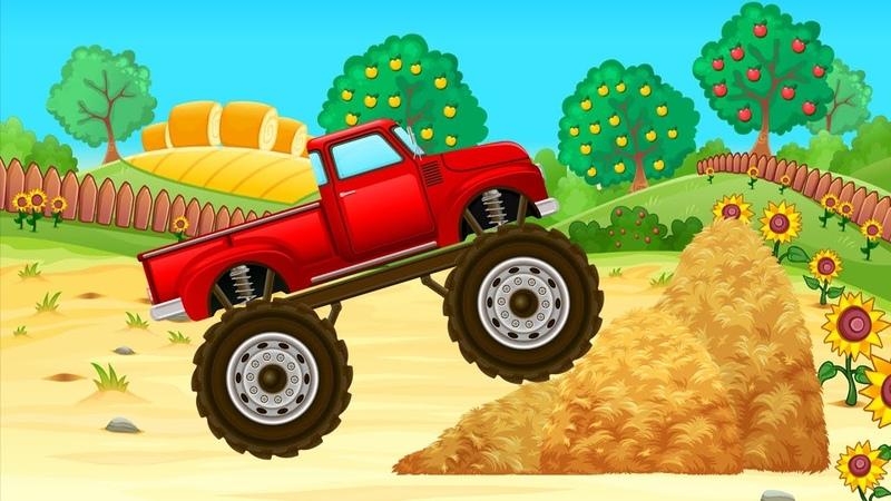 Фермерский Монстр Трак - Видео для Детей - Мультики про Машинки