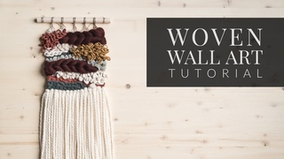 Woven Wall Hanging Tutorial [Weaving With Velvet, Cotton Rope, and Roving]