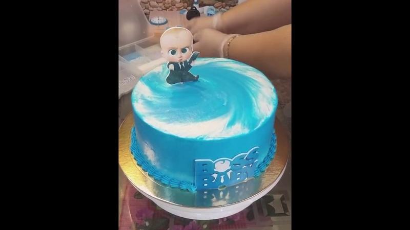 🌺🌺🌺Босс Молокосос🌺🌺🌺 Торт на годик🌺🌺🌺 ТортАртДекор 🌺🌺🌺 На кухне у Магнолии🌺🌺🌺