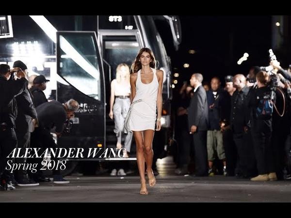 KAIA GERBER Opens ALEXANDER WANG SPRING 2018 ft Kendall Jenner Bella Hadid MODTV