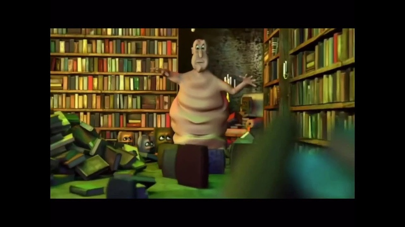 Globgogabgolab but every time he says a fake word it's kind of loud