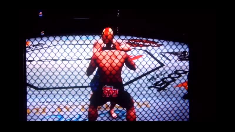 UFC 3 Undisputed Jens Pulver knockd out Ben Henderson.Дженс Пулвер нокаутирует Бэна Хендерсона.11DeadFace