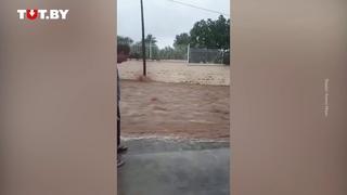 Подтопления из за шторма в Испании