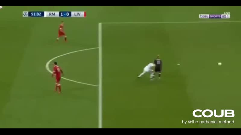 Karim Benzema funny goal Real Madrid vs Liverpool Champions League Final
