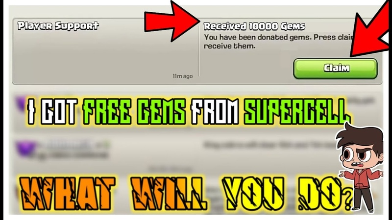 I GOT 10 000 GEMS FROM SUPERCELL joking 7 THINGS PLAYER LOVE IN CLASH OF CLANS