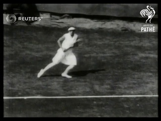 USA / TENNIS: Helen Wills wins US Open final (1929)