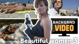 Background video with beautiful women part 3