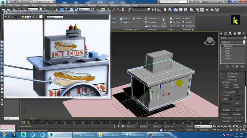 Tutorial on Modeling and Texturing a food stall in 3dsmax ( Part 1)