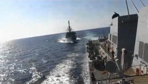 В ВМС США заявили об агрессивном поведении корабля ВМФ России