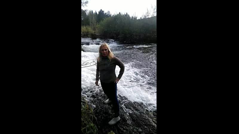 На Суенгинском водопаде в Маслянино