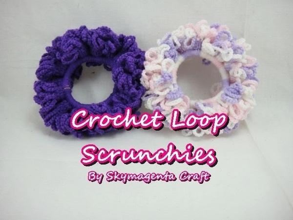 Crochet Tutorial Loop Scrunchies